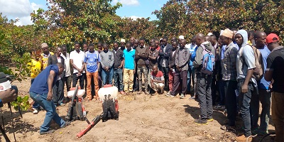 Training on proper and safe use of Pesticides in management of insects-pests and diseases in Cashew production.