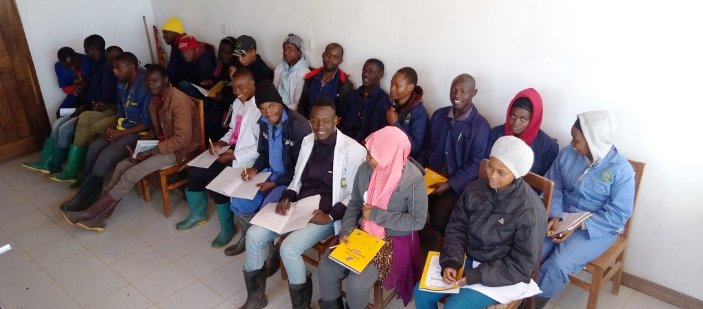 Field Practical Training at TARI - Kifyulilo, for NTA level 5 and 6 students from National Sugar Institute (NSI) and MATI - uyole Mbeya July, 2021.