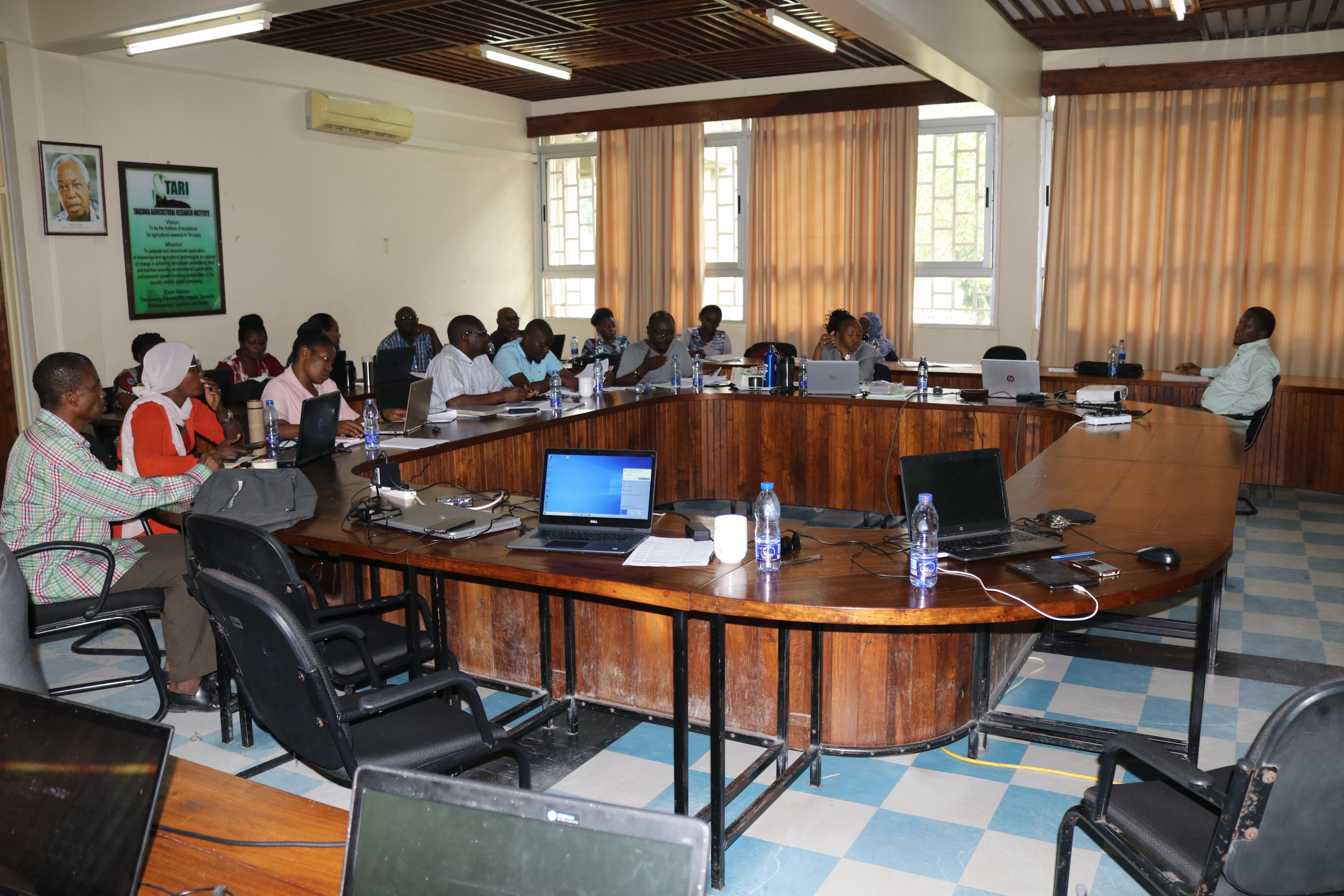 The sugarcane coordinator invited sugarcane estates, agronomists, for a discussion on new proposed projects with TARI Kibaha scientists